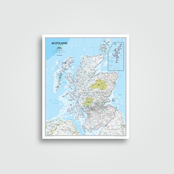 Scotland executive laminated national geographic maps national scotland classic laminated national geographic maps gumiabroncs Image collections