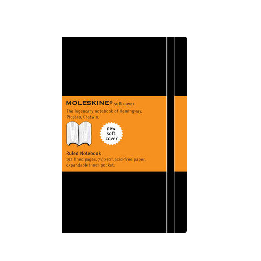 Moleskine Soft Xlarge Ruled Notebook - Moleskine