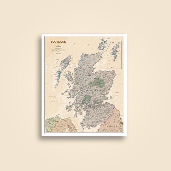 Scotland executive laminated national geographic maps national scotland executive laminated national geographic maps gumiabroncs Image collections