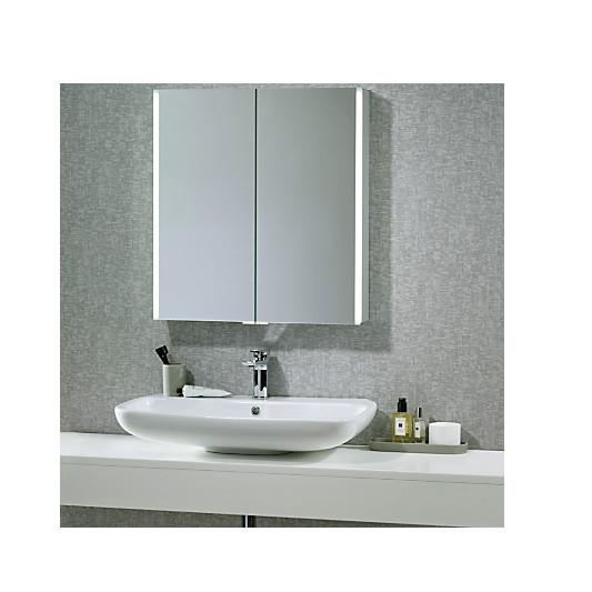 john lewis led trace double illuminated bathroom cabinet