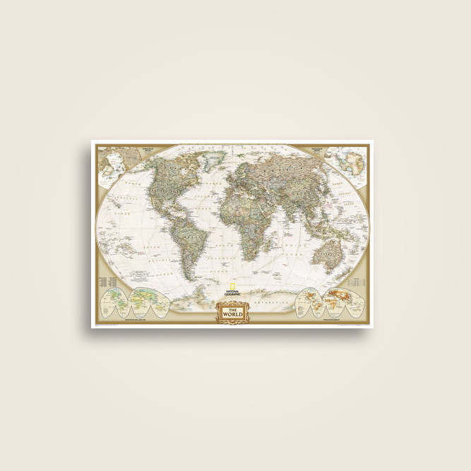 World Executive Poster Size Map Wall Maps World Undefined Near Me - Buy wall map of the world