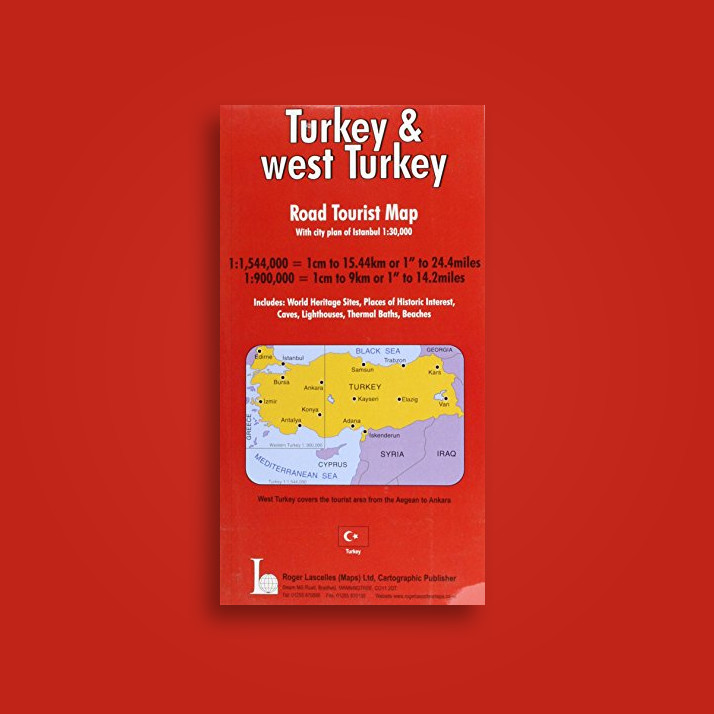 Turkey and West Turkey Road Tourist Map Including Town Plan of Istanbul -  undefined Near Me | NearSt