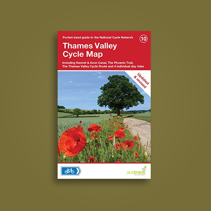 Thames Valley Cycle Map Including Oxford Reading Guildford