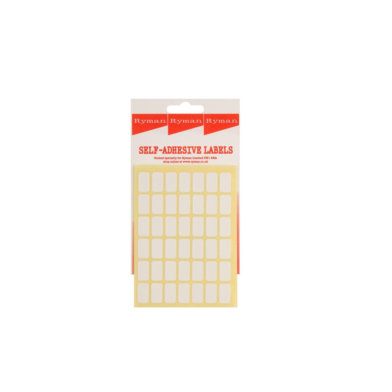 Ryman Self Adhesive Labels 16x9mm 42 per Sheet Pack of 420, White