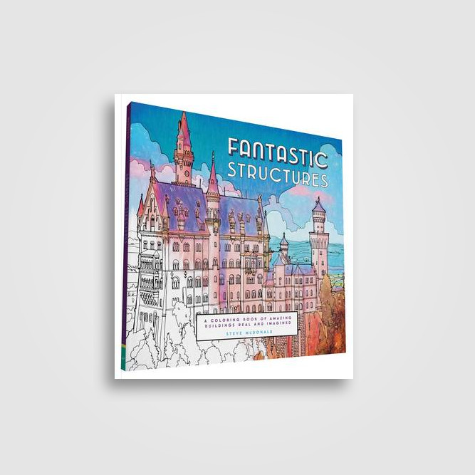 Fantastic Structures A Coloring Book Of Amazing Buildings Real And Imagined