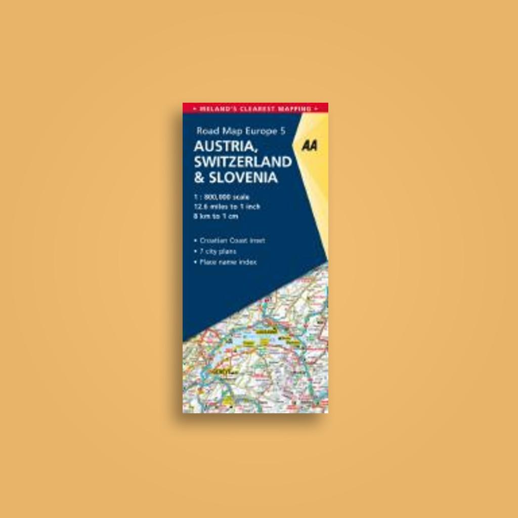 5. Austria, Switzerland & Slovenia: AA Road Map Europe - undefined ...