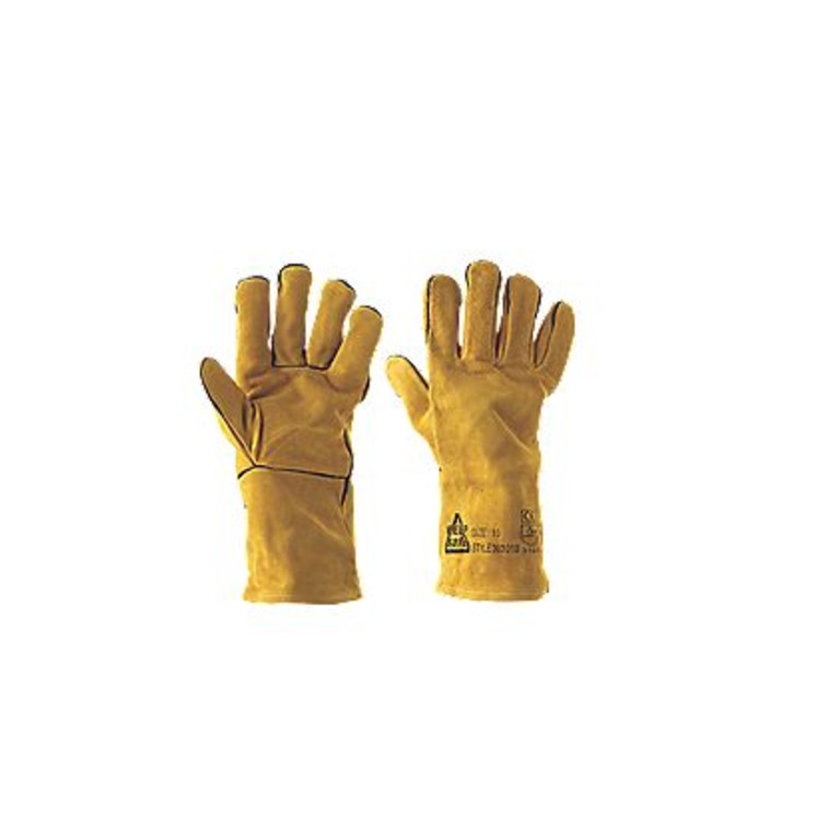 Keep Safe Professional Welders Gauntlets Yellow Large (18558