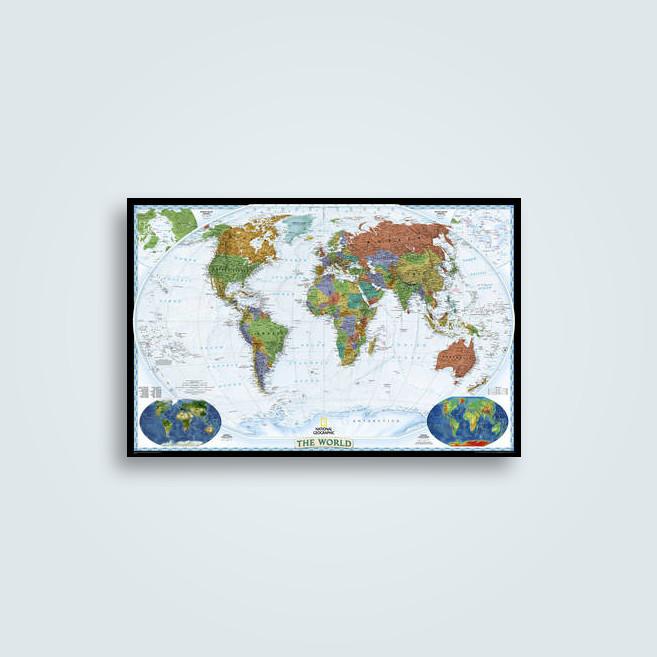 World decorator enlarged and laminated national geographic world decorator publicscrutiny Images