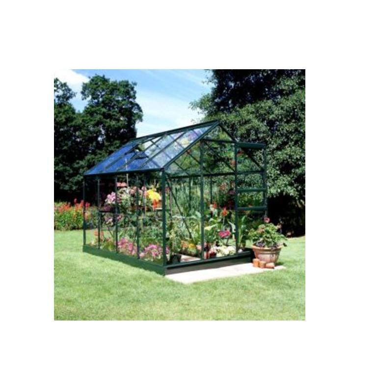 Green B&Q 6X8 Horticultural Glass Greenhouse - Halls Near Me