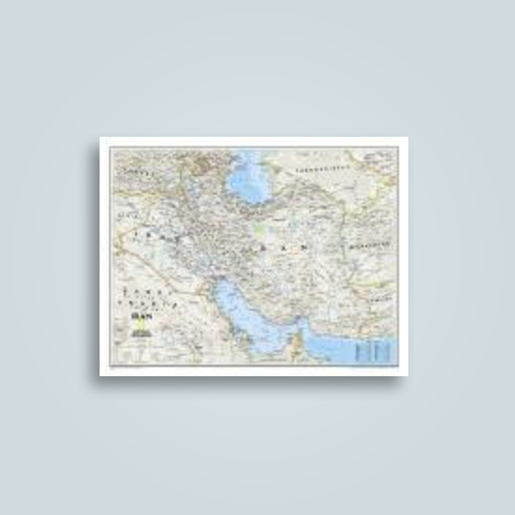 Iran Classic Laminated Wall Maps Countries Regions Undefined - Where can i buy a wall map