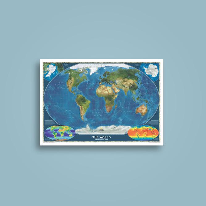 World satellite laminated national geographic maps national world satellite laminated national geographic maps publicscrutiny Images