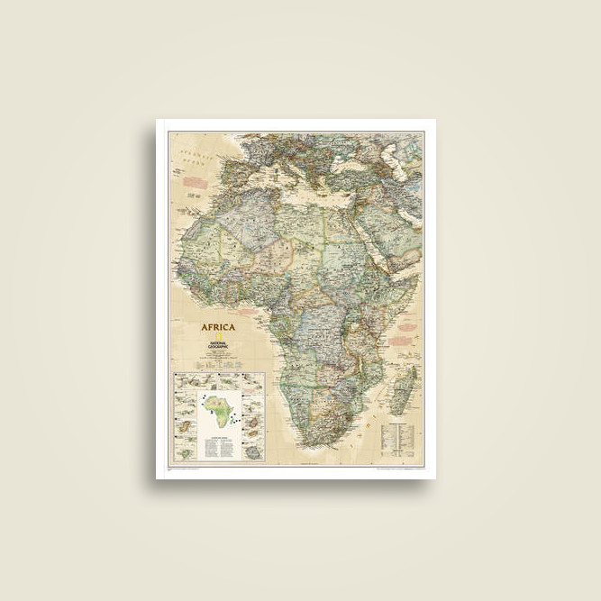 World classic poster size and tubed national geographic maps africa executive gumiabroncs Image collections