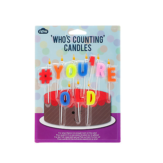 NPW YoureOld Birthday Candles Pack Of 10