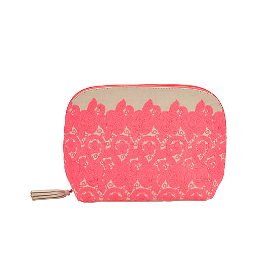 d559ba0bc5d2 John Lewis Sari Emblem Large Pink Toiletries Bag, Neon Pink - John Lewis  Near Me | NearSt Find and buy products from real shops near you