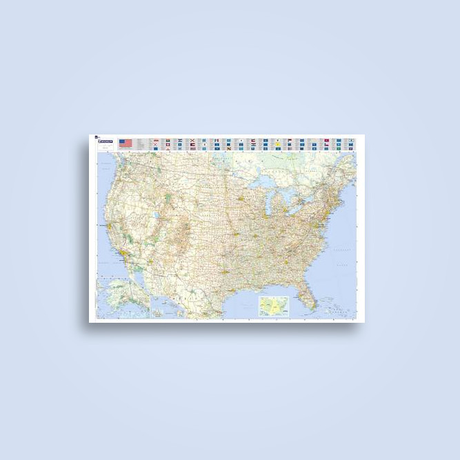 michelin map usa road 13761 laminated rolled