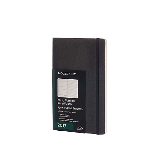 Moleskine A5 Softcover 2017 Weekly Diary, Black