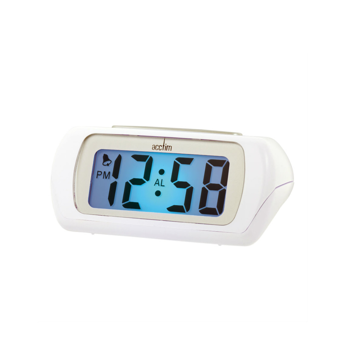 Acctim Auric LCD Alarm Clock White