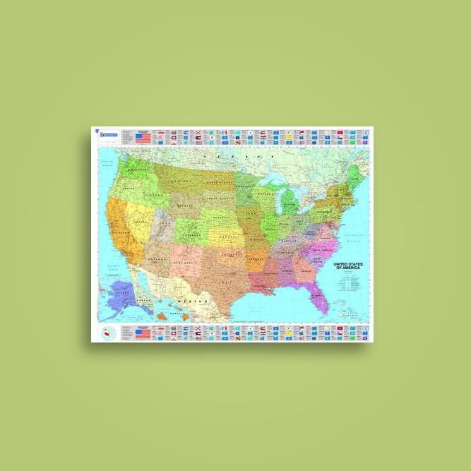 michelin usa political map michelin wall maps