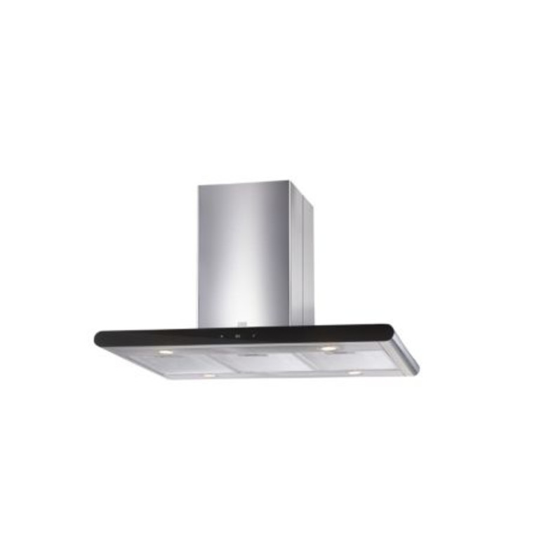 Cooke Lewis Clibh 12 Silver Effect Island Cooker Hood W